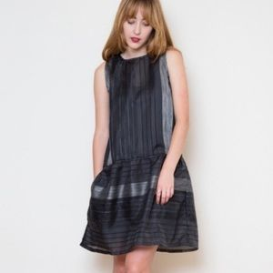 NWT Ace & Jig Party Frock Shadow Sheer Dress Sz S